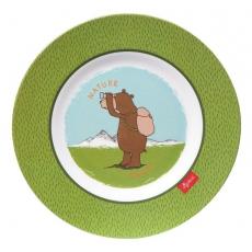 Sigikid Melaminový talíř pro děti medvěd Forest Grizzly