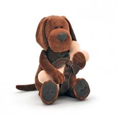Orange toys Plyšový pes Cookie s kostí