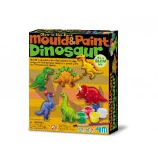 4m Sádrové odlitky Svítící dinosaurus