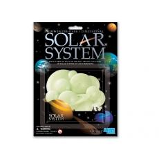 4m Sluneční 3D soustava svítící ve tmě