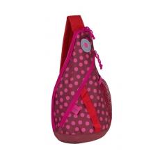 Lässig Křížový dětský batoh Mini Sling Bag Dottie Red