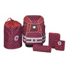 Lässig Školní batoh - aktovka s příslušenstvím School Set Dottie red