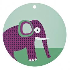 Lässig Silikonové dětské prostírání Wildlife Elephant