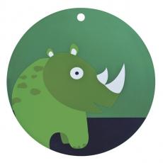 Lässig Silikonové dětské prostírání Wildlife Rhino