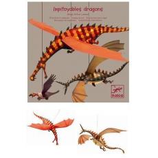 Djeco Papírové tvoření - Létající draci