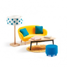 Djeco Nábytek pro panenky - obývací pokoj