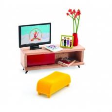 Djeco Nábytek pro panenky - pokoj s televizí