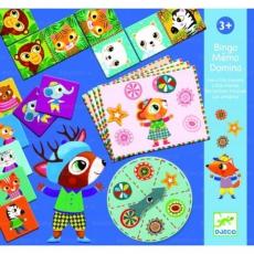 Djeco Zábavná hra Malí kamarádi - bingo, pexeso, domino