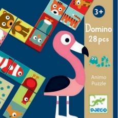Djeco Oboustranné domino - puzzle Zvířátka
