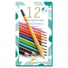 Djeco Akvarelové pastelky 12 kusů
