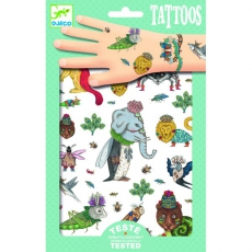 Dětské tetování Přeházená zvířátka