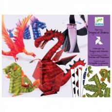 Djeco Origami - skládačka Draci