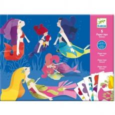 Djeco Origami - skládačka Třpytivé mořské panny