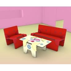 Dollswalls Nábytek pro panenky - obývací pokoj se sedačkou