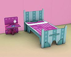 Dollswalls Nábytek pro panenky - ložnice