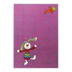 Sigikid Dětský koberec Rainbow Rabbit 3 SK-0523-03 fialový