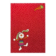 Sigikid Dětský koberec Rainbow Rabbit 3 SK-0523-02 červený
