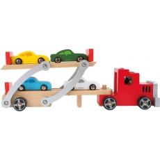 Legler Dřevěný tahač - přepravce aut