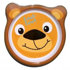 Label-label Melaminový talíř pro děti Lev kulatý