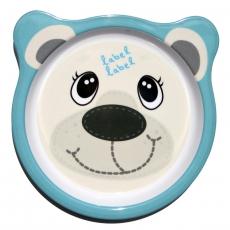 Label-label Melaminový talíř pro děti Lední medvěd kulatý
