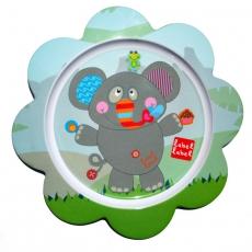 Label-label Melaminový talíř pro děti Slon