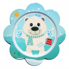 Label-label Melaminový talíř pro děti Lední medvěd