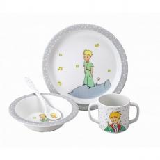 Petit jour paris Dětský jídelní set Malý princ, šedý