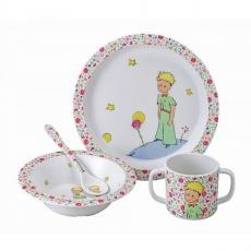 Petit jour paris Dětský jídelní set Malý princ, růžový