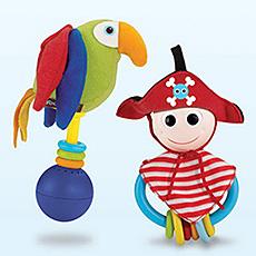 Yookidoo Hudební hračka a chrastítko Pirátský set 2v1