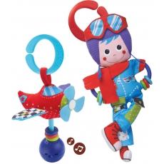 Yookidoo Hudební hračka a chrastítko Pilot a letadlo set 2v1
