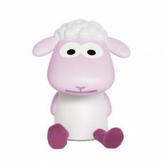 Zazu Dětská lampička a noční světlo ovečka FIN - růžová