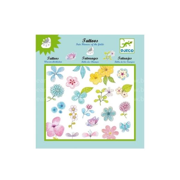 Dětské tetování Květiny a motýli - Djeco  18ba9522d1